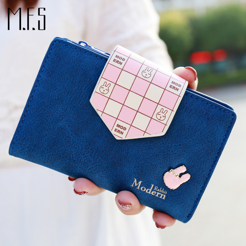 MFS New Fashion Design Women Wallet PU Leather Money Bag Purse Squares Cute Rabbit Zipper Hasp Clutch Cion Pocket Card Holder(China (Mainland))