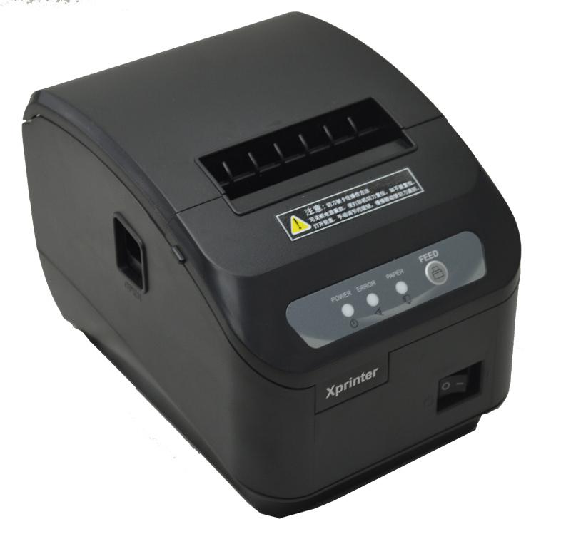 E-EMSFreeshipping pos <font><b>printer</b></font> High quality 80mm thermal receipt <font><b>printer</b></font> XP-Q200II automatic cutting machine USB+RS232 interface