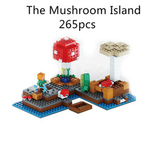 Buy Lepin 265pcs World Minecraft Mushroom Island anime action figures Building kits Blocks Bricks hot Toys Children 21129 for $16.14 in AliExpress store