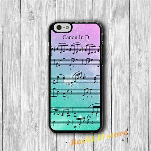 Music Sheet Note Song Canon fashion case cover for iphone 4 4S 5C 5 5S SE 6 6S 6 plus 6s plus 7 7 Plus #O506(China (Mainland))