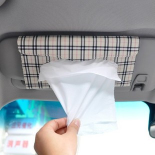 Car sun-shading board tissue box set car tissue box tissue pumping car hanging tissue box