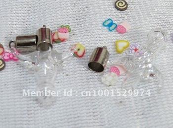 100pcs/lot wholesale murano lampwork MINI pendant rice vials bottles jewelry 11~cow head<br><br>Aliexpress