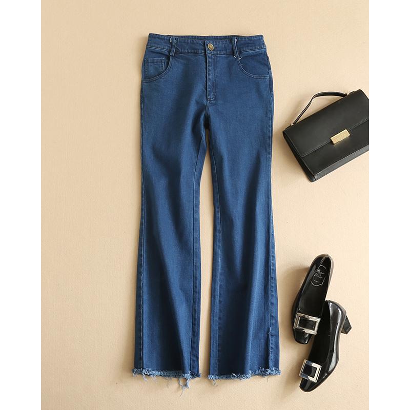 Здесь можно купить  Fringed Flare Jeans 2016 Spring Summer Mid Waist Women Trousers Pantalones Mujer Females 2015 Jeans Taille Haute  Одежда и аксессуары