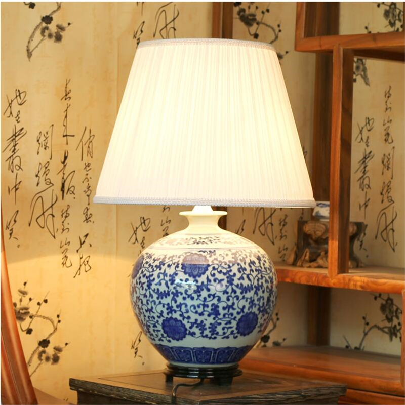 achetez en gros bleu porcelaine lampe en ligne des grossistes bleu porcelaine lampe chinois. Black Bedroom Furniture Sets. Home Design Ideas