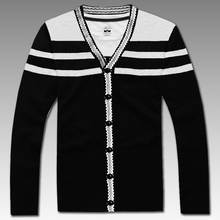 2016 new arrival  men's sweater fashion casual obese long-sleeve cotton cardigan male Plus size 2XL 3XL 4XL 5XL 6XL 7XL 8XL 9XL(China (Mainland))