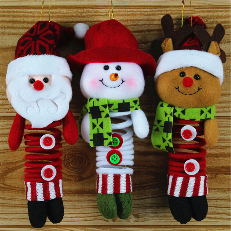 Christmas Hanging Xmas Decoration Claus Snowman Reindeer Wall Tree Door Decor Christmas Ornament Supplies wholesale GI880430(China (Mainland))