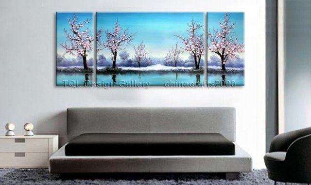 MODERN ABSTRACT HUGE CANVAS 2 OIL PAINTING Guaranteed 100% Free shipping YP679