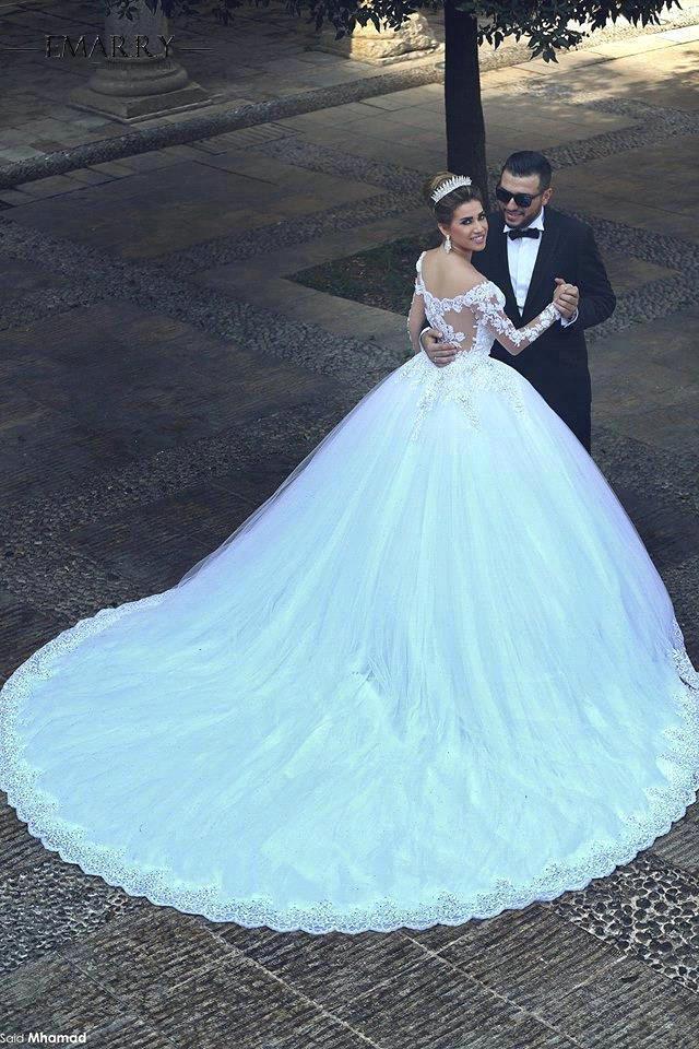 Aliexpress.com : Buy E MARRY Romantic 2016 Long Sleeves Wedding ...
