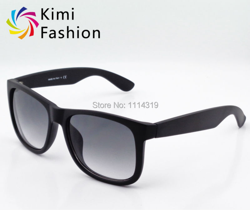Hot Sale 4165 JUSTIN Sunglasses Fashion Brand Name Sunglasses Women Eyewear Vintage Men Glasses Black Frame Gray Lenses Case Box(China (Mainland))