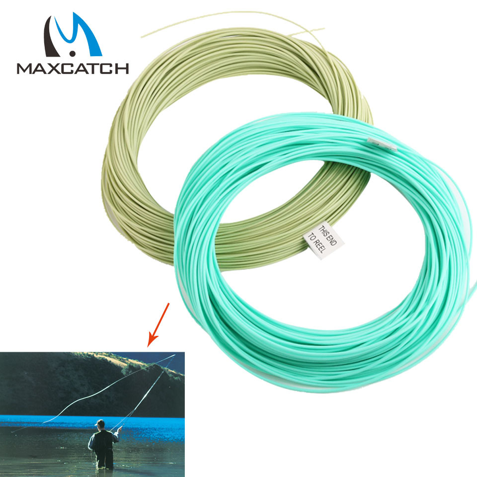 Maxcatch 100 ft weight forward floating fly fishing line for The fishing line