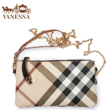 Fashion England Style TOP Brand Clutch Bag Women Plaid desigual Genuine leather Handles Bags wallet Handbag Shoulder Messenger(China (Mainland))