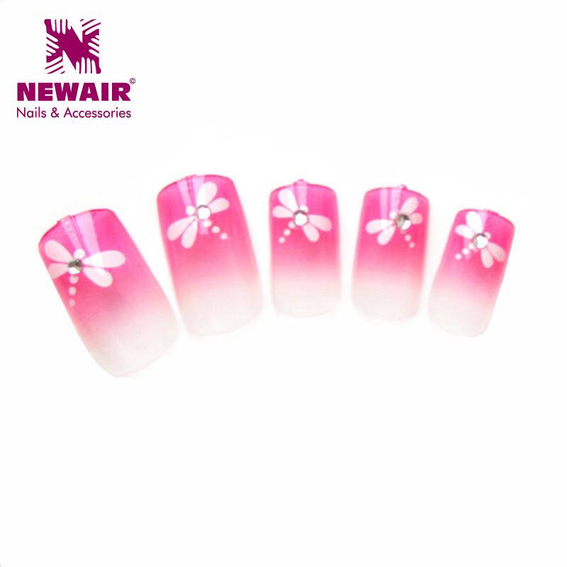 Hot sale fall design newair diamond uv gel nail art tip with dragonfly full cover nail tips abs art nails file Wholesale(China (Mainland))