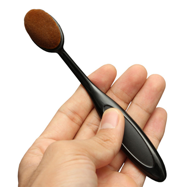 Oval Makeup Tool Cosmetic Foundation Cream Powder Blush Makeup Brush(China (Mainland))