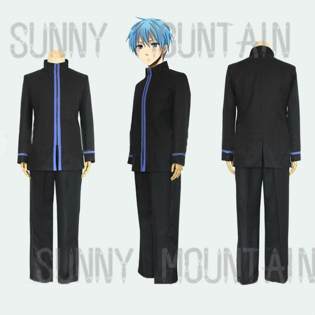 Free shipping SEIRIN high school black school uniform suit for kuroko no basket cosplay including coat and trousersОдежда и ак�е��уары<br><br><br>Aliexpress