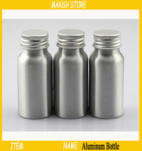 30ML Aluminum Bottle For Cosmetics ,Metal Container For Make-up Water Aluminum Storage Bottle With Aluminum Screw Cap 10pcs/Lot(China (Mainland))