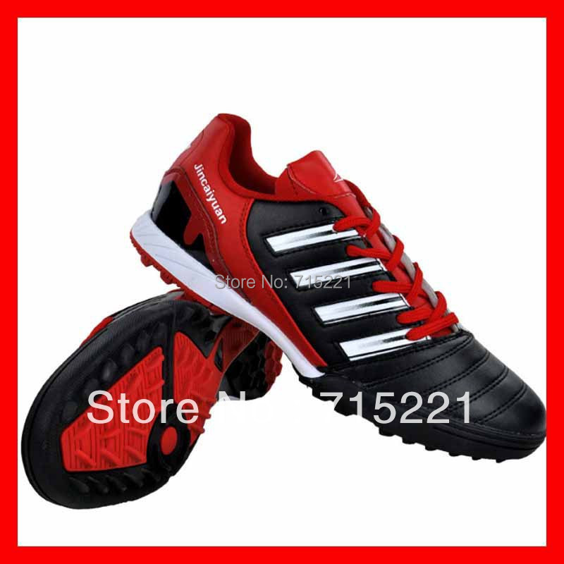 Discount land knife leather shoes for man new european boots red synthetic soccer cleats(China (Mainland))