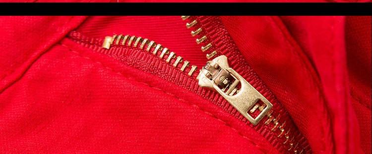 Скидки на Марочные Красные Джинсовые Шорты 2016 Мужская Молнии Карманы Slim Fit Корейский Дизайн Джинсовые Шорты Ночной Клуб Повседневная Одежда
