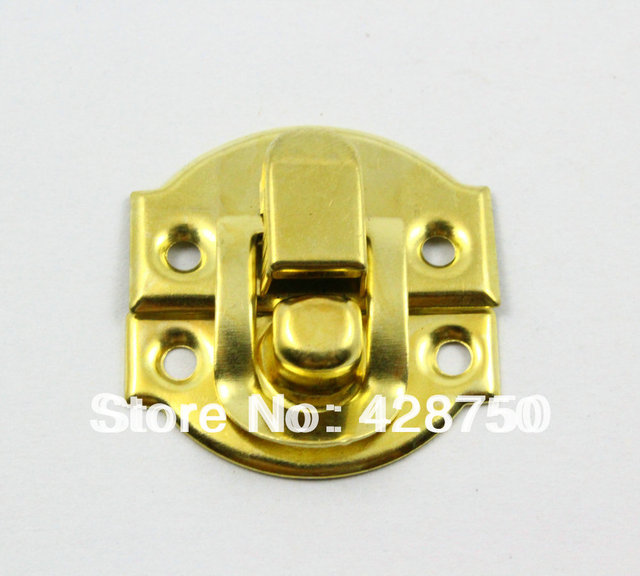 Gold Jewelry Box Hasp Latch Lock 27x29mm with Screws