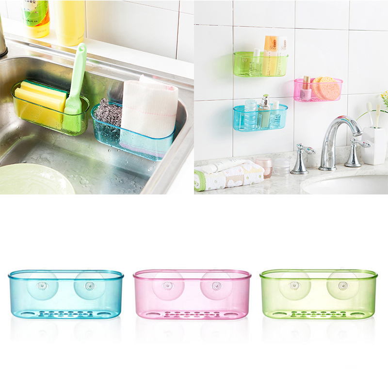 Hot Sale Wall Mounted Suction Hanging Sink Holder Sponge Brush Storage ...