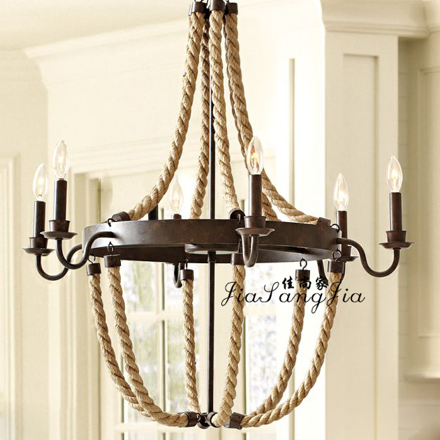rope pendant light american rustic living room lamps lamp. Black Bedroom Furniture Sets. Home Design Ideas