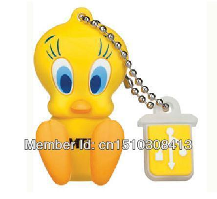 5pcs/lot Free shipping! Cartoon Tweety Bird USB Flash Drive Memory Flash/Pen/Thumb Drive 8GB 16GB 32GB Cartoon pen drive S70(China (Mainland))