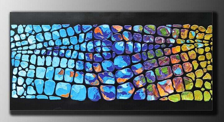 Modern abstract handpainted oil painting canvas wall art pictures on the living room