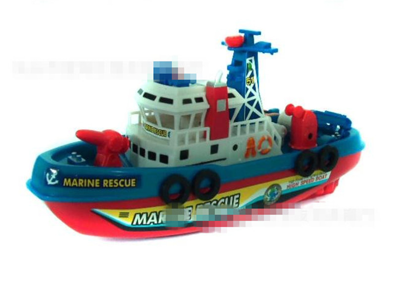 Fire Boat Electric Boat Model Children electric toy Boat navigation Non-remote warships at sea(China (Mainland))