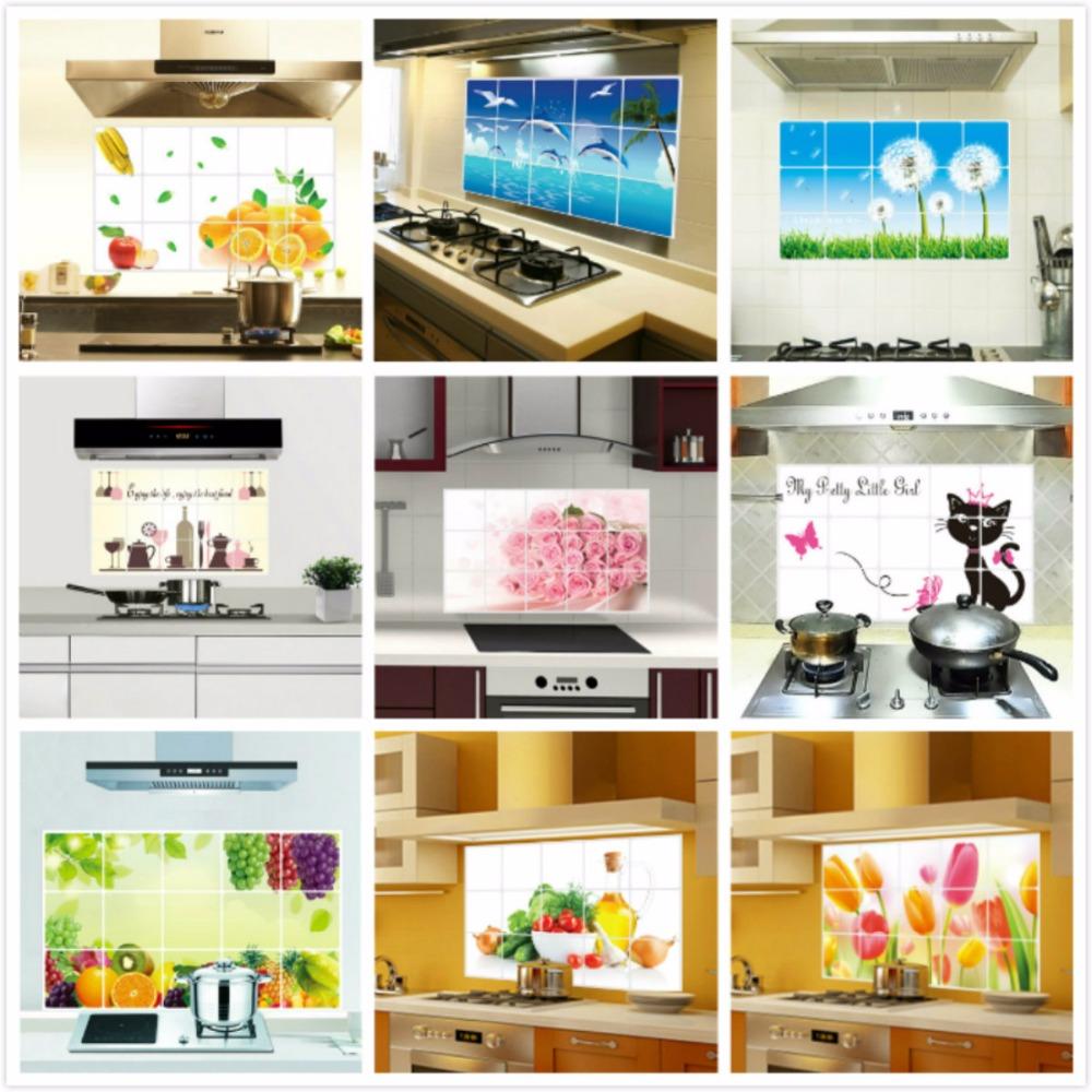 Ceramic tile stickers kitchen