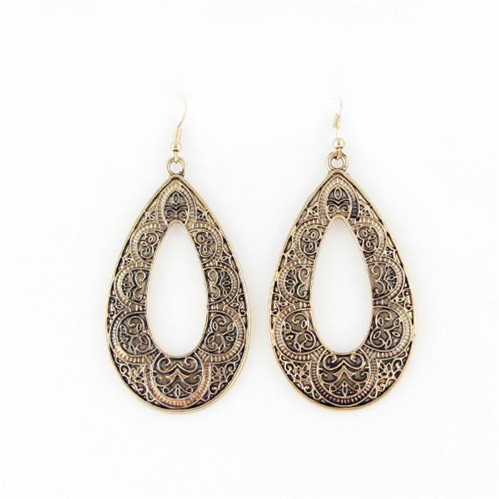 2016 Fashion Vintage Round Water Drop Earrings dangle earrings big Women Jewellery - Hello Bella store