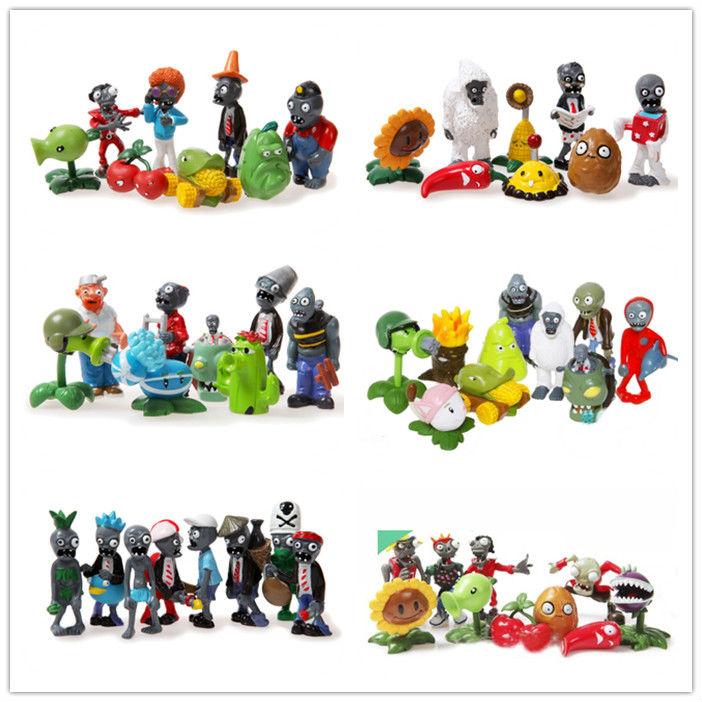 Plants vs Zombies figure toys crazy party version Contain BOSS 52pcs