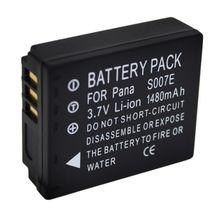 1480mAh DMW-BCD10 CGA-S007E BCD10 S007E Camera Battery For Panasonic Lumix DMC-TZ1 DMC-TZ1BK DMC-TZ1BS DMC-TZ3EB-K DMC-TZ2