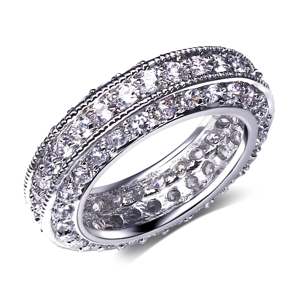 Aliexpress Buy Hot Sell AAA Cubic Zirconia Stone Engagement Rings For Women Luxury Real