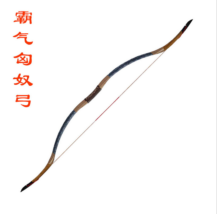 traditonal Outdoor Sport hunting Archery shooting practice Black leather Handmade Bow Longbow bowbag bow arrows