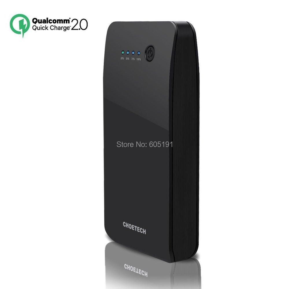 Гаджет  Quick Charge 2.0 Power Bank Vinsic CHOETECH 5V/9V/12V 15600mAH Dual USB Portable Phone Charger with Auto Detect Tech None Телефоны и Телекоммуникации