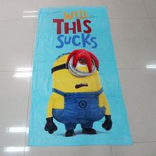 70*140CM Microfiber fabric cartoon bath towels brand towel adult children beach towel for swimming shower bathroom home textile