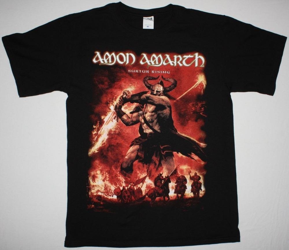 Shirt design website cheap - Design Website Funny Amon Amarth Surtur Rising Melodic Death Viking Metal Finntroll Crew Neck Short Sleeve Mens T Shirt