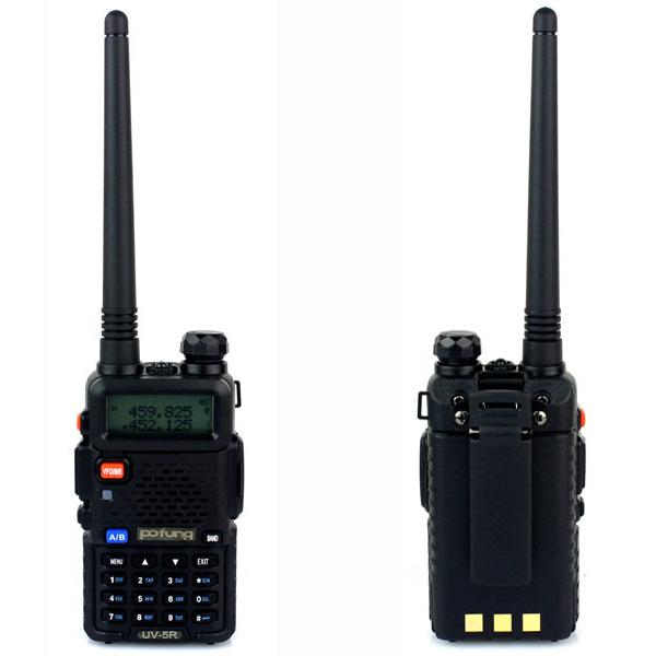 New BaoFeng UV-5R Portable radio Walkie Talkie Pofung UV5R Two Way Radio 5W 128CH UHF/VHF Dual Band Handled Transceiver A7108A(China (Mainland))