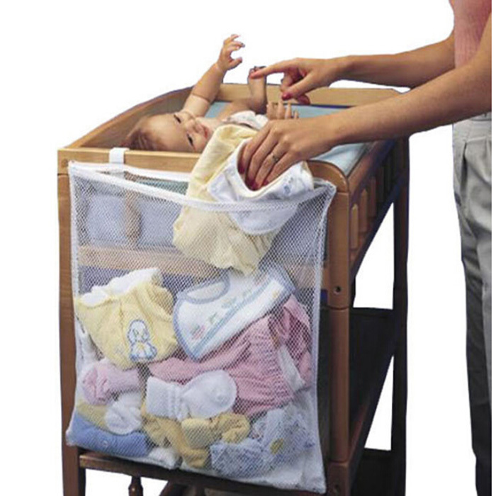 Portable large size storage bags for baby bed convenient for Baby clothes size organizer