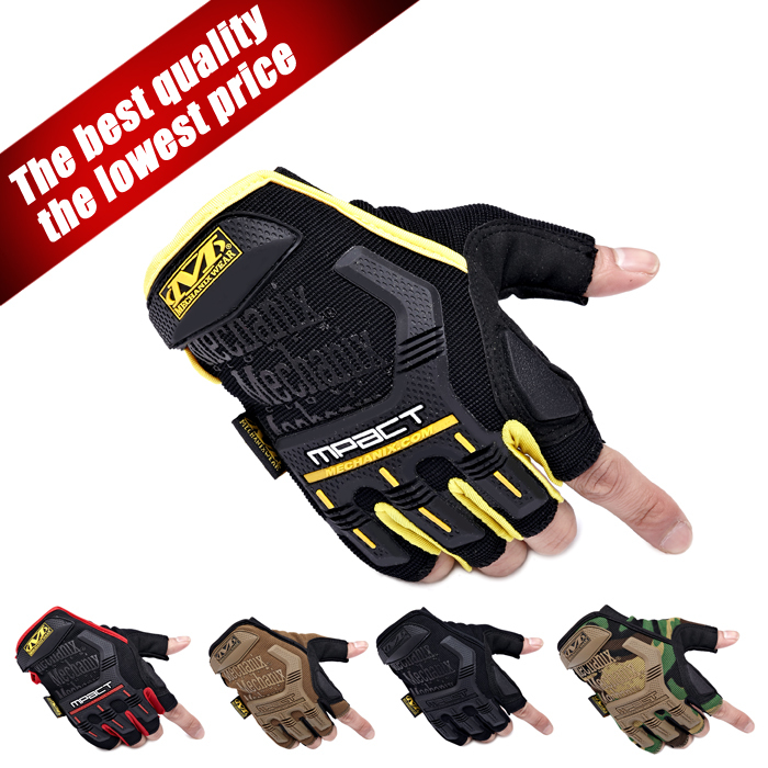 Mechanix Wear M-Pact motorcycle gym tactical fitness gloves cycling paintball outdoor airsoft sport workout fingerless luvas men(China (Mainland))