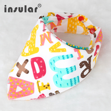 100% Cotton High Quality Cartoon Baby Bibs Double Layers Soft Cotton Fiber Newborn Burp Bib Kid Bandana