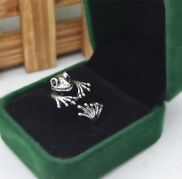 Кольца большие скидки ретро лягушка античная животных обертывание кольцо ручной милые ...