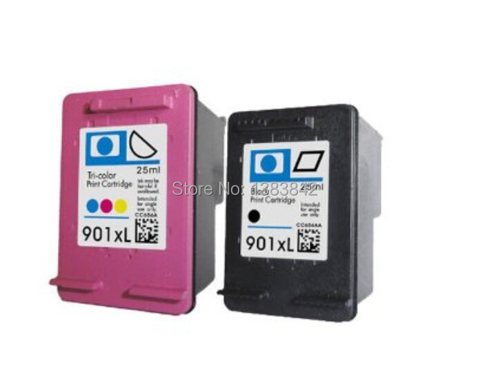 free shipping for hp 901XL CC654AC and CC655AC Ink Cartridge For HP Officejet J4500, 4540,4550,J4580 J4640 J4680 Ink jet printer(China (Mainland))