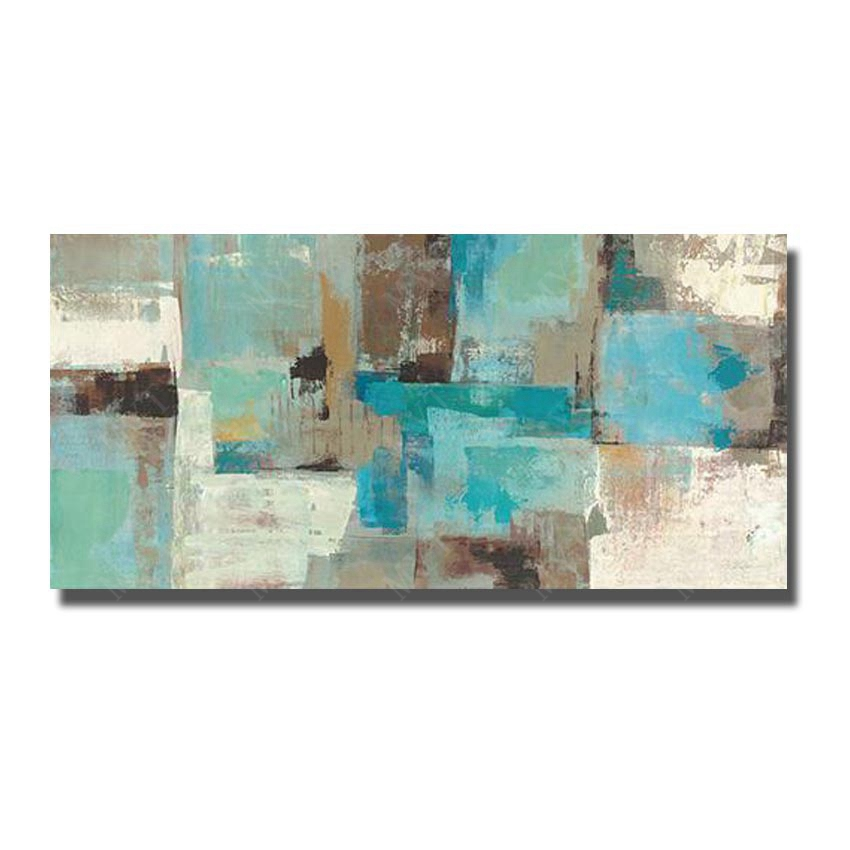 Hand Painted Abstract Oil Painting On Canvas Wall Picture Living Room Wall Modern Painting Pictures Blue Art No Framed(China (Mainland))