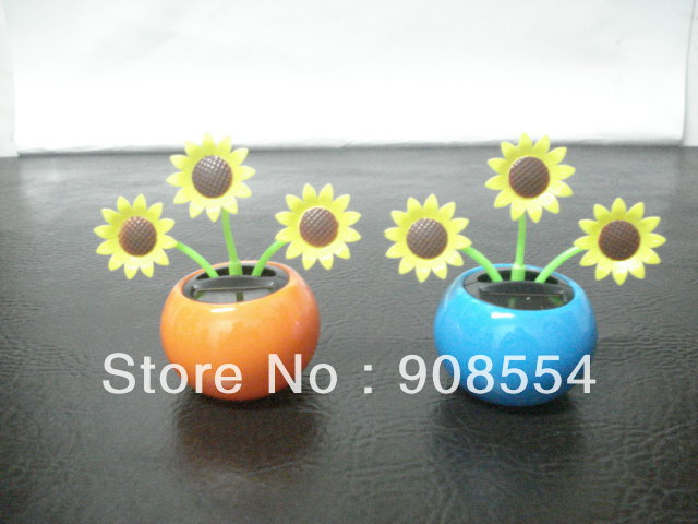 New style flip flap solar flower solar energy dancing flower 10pcs per lot Free shipping no battery no water(China (Mainland))