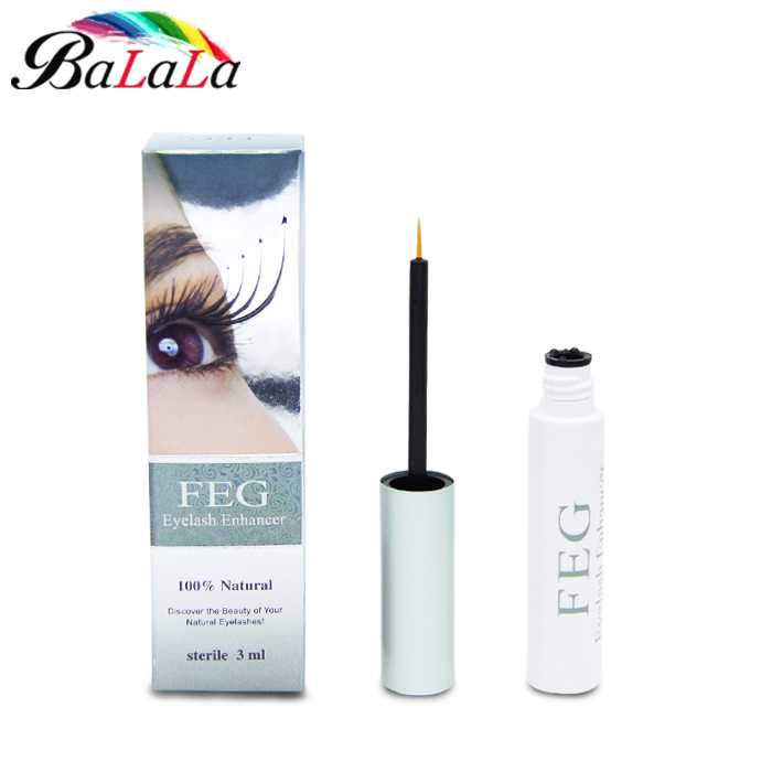 Free Shipping 100 original feg eyelash enhancer 7 Days Grow 2 3mm eyelashes face care eyelash