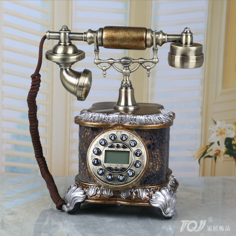 TQJ / European-style antique telephones / retro fixed telephone landline / Vintage living room telephone 8939(China (Mainland))