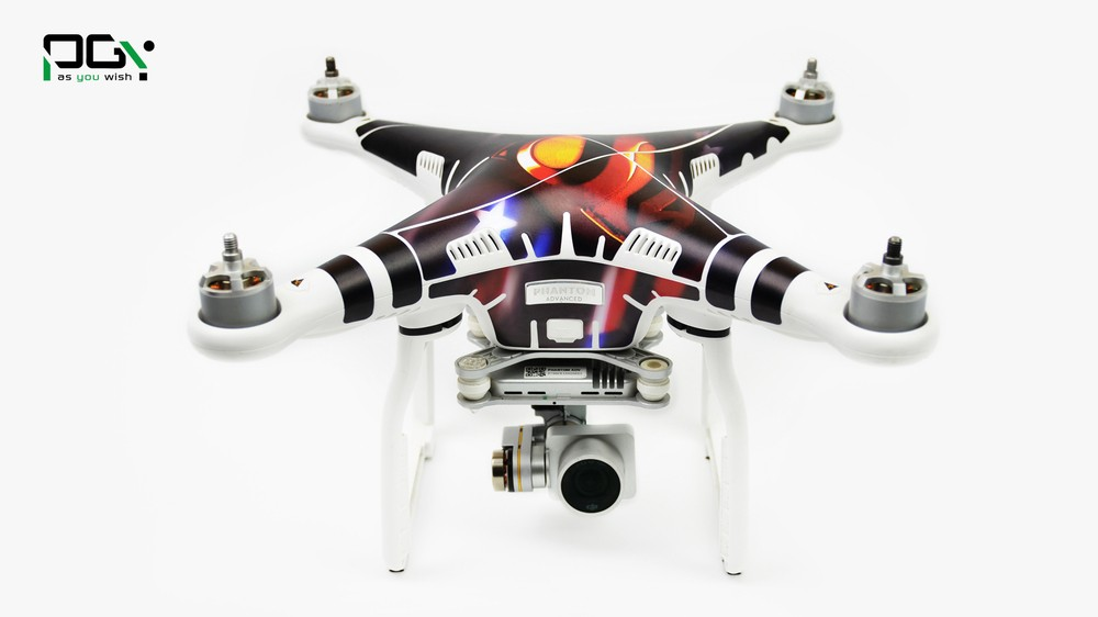 PGY PVC Skin For DJI Phantom 3 Waterproof 3M Sticker professional Drone parts CO12