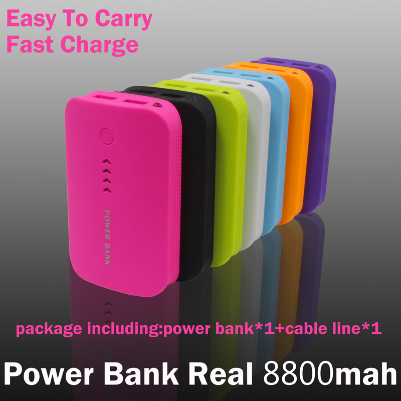 Power Bank 8800mAh USB External Mobile Backup Powerbank Battery for iPhone iPod iPad mobile Phone Universal Charger(China (Mainland))