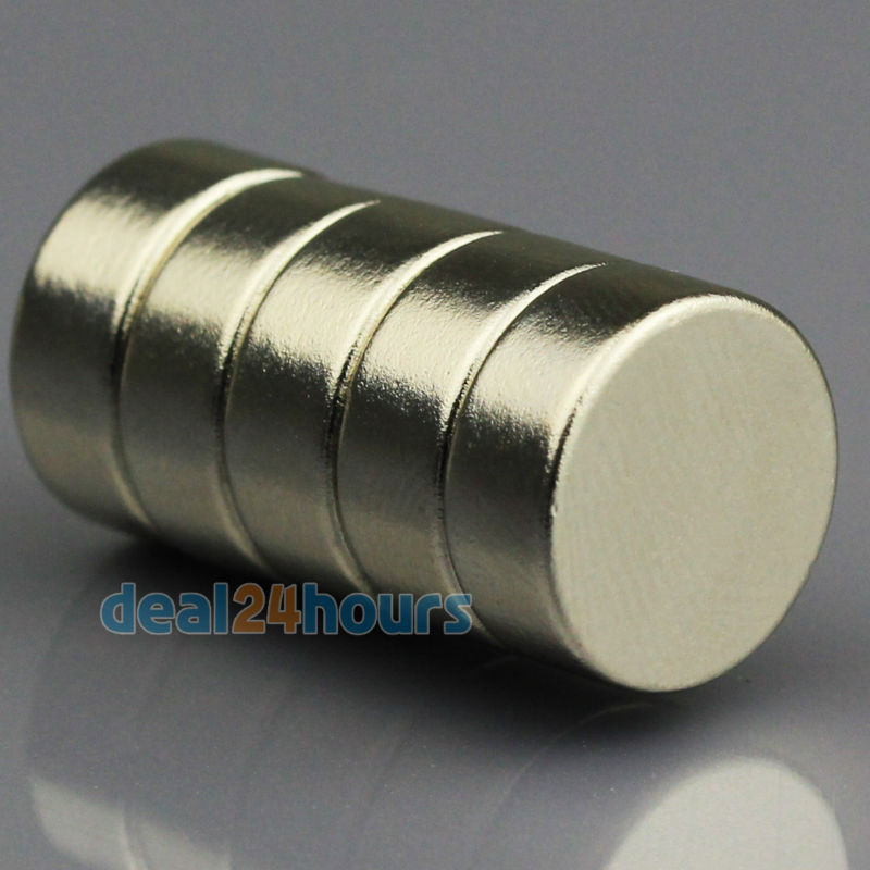 5pcs N50 Super Strong Round Disc Cylinder Magnets Rare Earth Neodymium 12mm x 5mm Free Shipping<br><br>Aliexpress