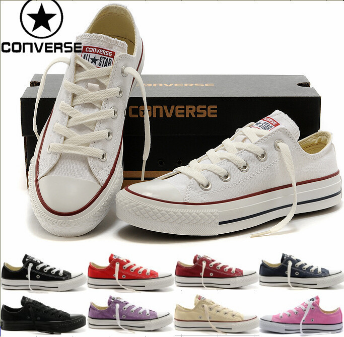 CONVERSE WOMEN WHITE ALL STAR WOMEN AND MEN HIGH LOW CHEAP CONVERSE ALL STAR SHOE(China (Mainland))